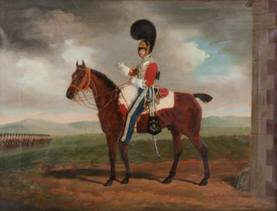 'CAPTAIN STRATTON' – SOLDAT DER 4TH ROYAL IRISH DRAGOON GUARDS ZU PFERD
