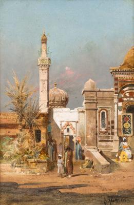 Orientalische Landschaft mit Moschee (1894)
