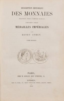 Description historique des monnaies frappées sous l'Empire Romain communément appellées Médailles Impériales, Band 1-7 (supplément)