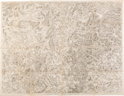 2 Schuber mit Militärkarten, herausgegeben von Johann Ludwig Christian Rheinwald