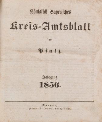 Konvolut Amtsblätter und Schulbibliothek