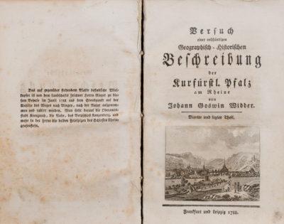 Versuch einer vollständigen Geographisch-Historischen Beschreibung der Kurfürstl. Pfalz am Rheine, 1. – 4. Teil