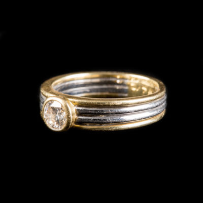 BRILLANT-SOLITAIRE-RING 'WEMPE'