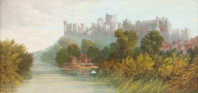 Fluß vor Schloß Windsor