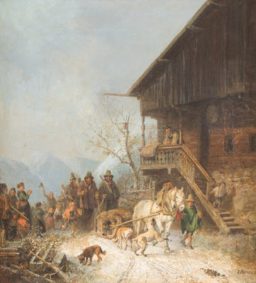 Heimkehr nach der Bärenjagd (um 1839/40)