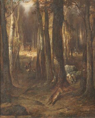 Hasenhatz im tiefen Wald