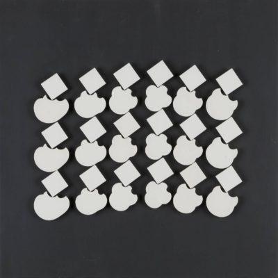 'ABWÄLZFORMEN (KINETISCHE OBJEKTE)', 3 OBJEKTKÄSTEN, 1981