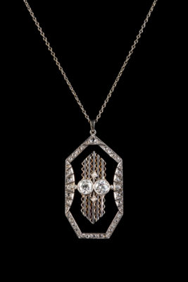 ART-DÉCO DIAMANT-COLLIER