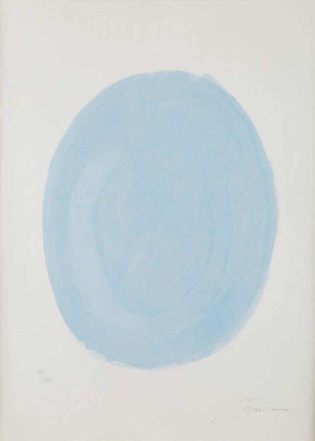 Nudo azzurro (Blue oval with nude) (1967)