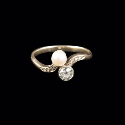 PERL-DIAMANT-RING