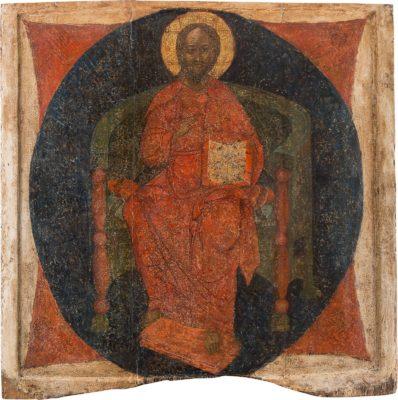 MONUMENTALE IKONE MIT DEM THRONENDEN CHRISTUS