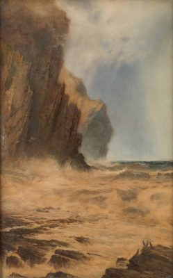 STEIGENDE FLUT BEI CORNWALL (RISING TIDE AT CORNWALL)