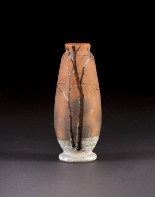 Kleine Vase 'Arbres en hivers'