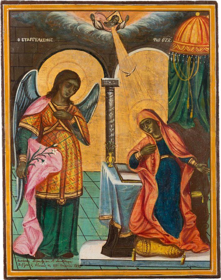 GROSSE IKONE MIT DER VERKÜNDIGUNG MARIAE