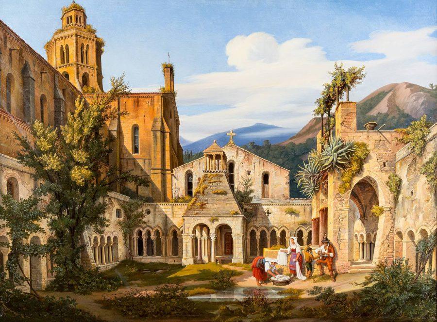 Am Brunnen – Italienische Bauern bei der Wäsche im verlassenen Klostergarten