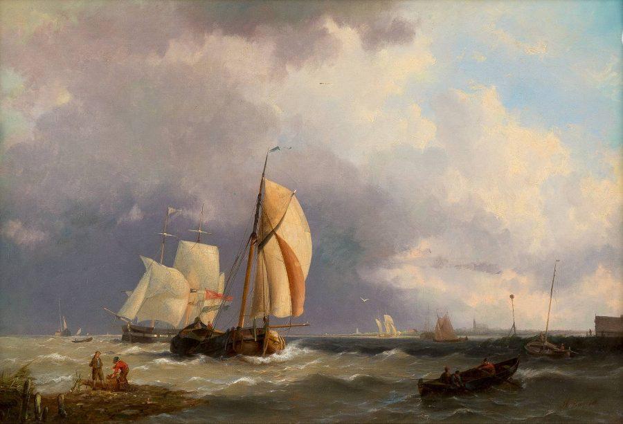 Schiffe auf hoher See