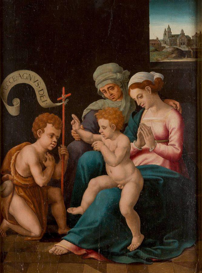MARIA MIT DEM KINDE, DEM JOHANNESKNABEN UND DER HEILIGEN ELISABETH (MADONNA DEL DIVINO AMORE)