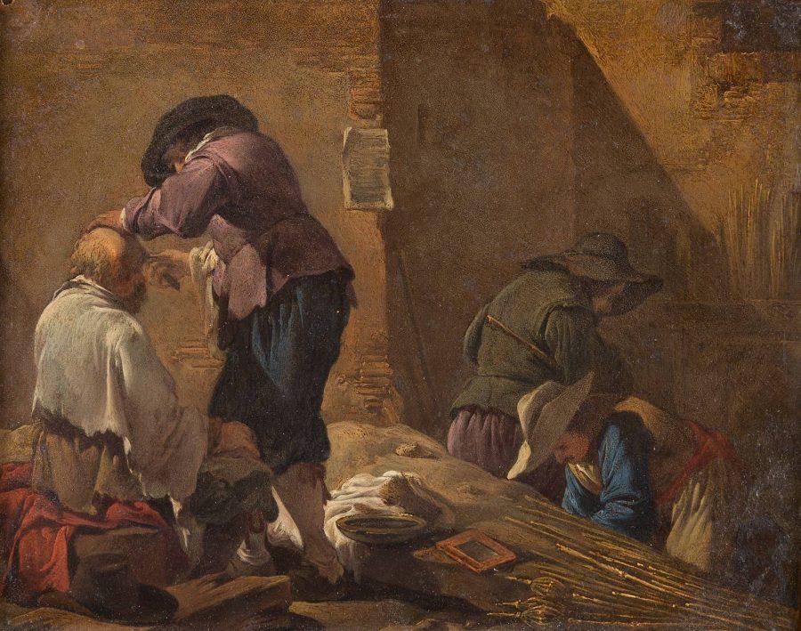 BÄUERLICHE SZENE, CA. 1635-1641
