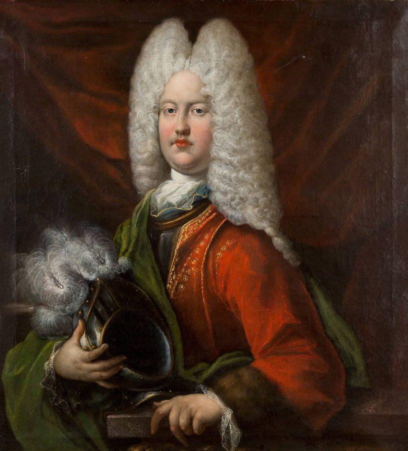 HALBFIGURENBILDNIS DES PRINZEN ENNO AUGUST VON OSTFRIESLAND, 1717