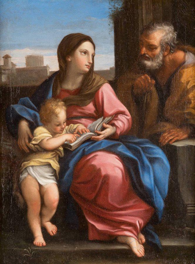DIE HEILIGE FAMILIE MIT MARIA, JOSEF UND DEM CHRISTUSKIND