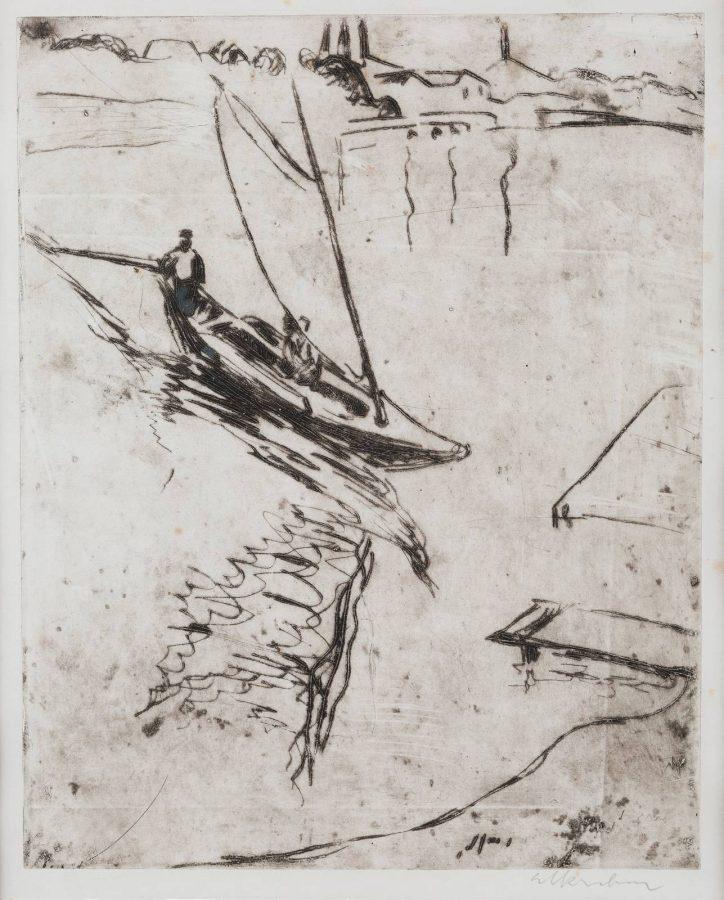 SEGELBOOTE AUF DEM WASSER (1908)