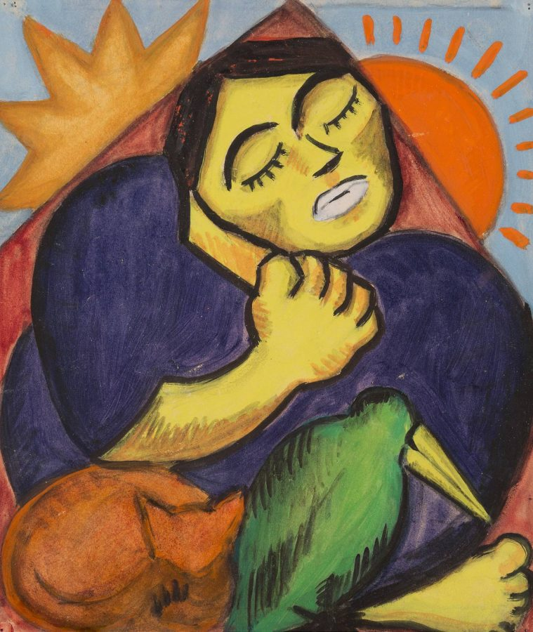 'FRAU MIT VOGEL' (1917)