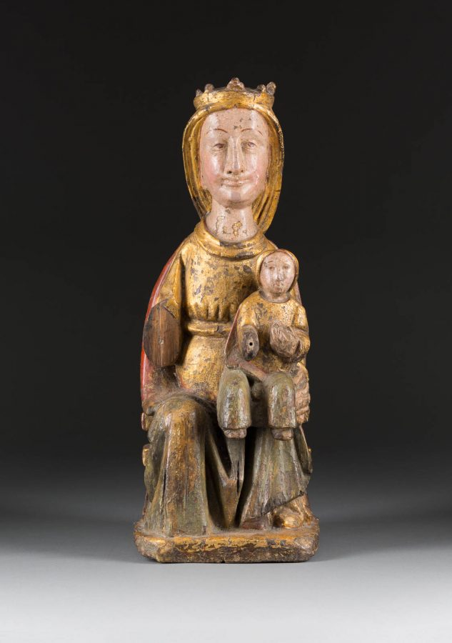 THRONENDE MADONNA MIT CHRISTUSKIND