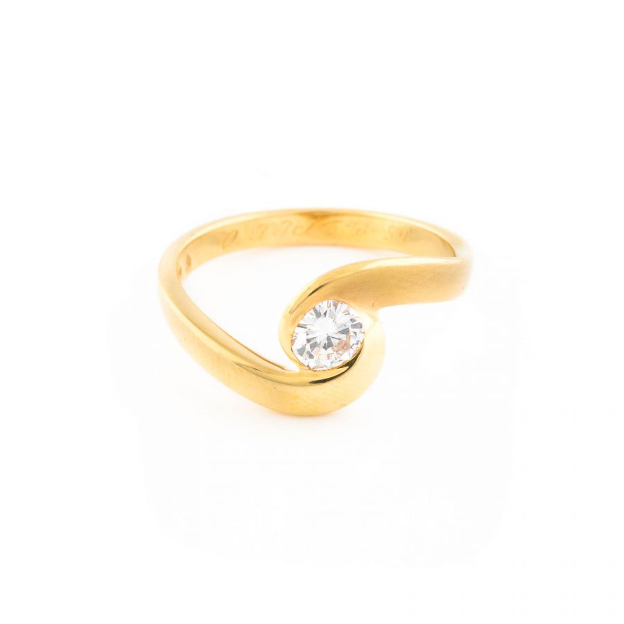 RING MIT BRILLANT-SOLITAIRE 'CHRISTIAN BAUER'