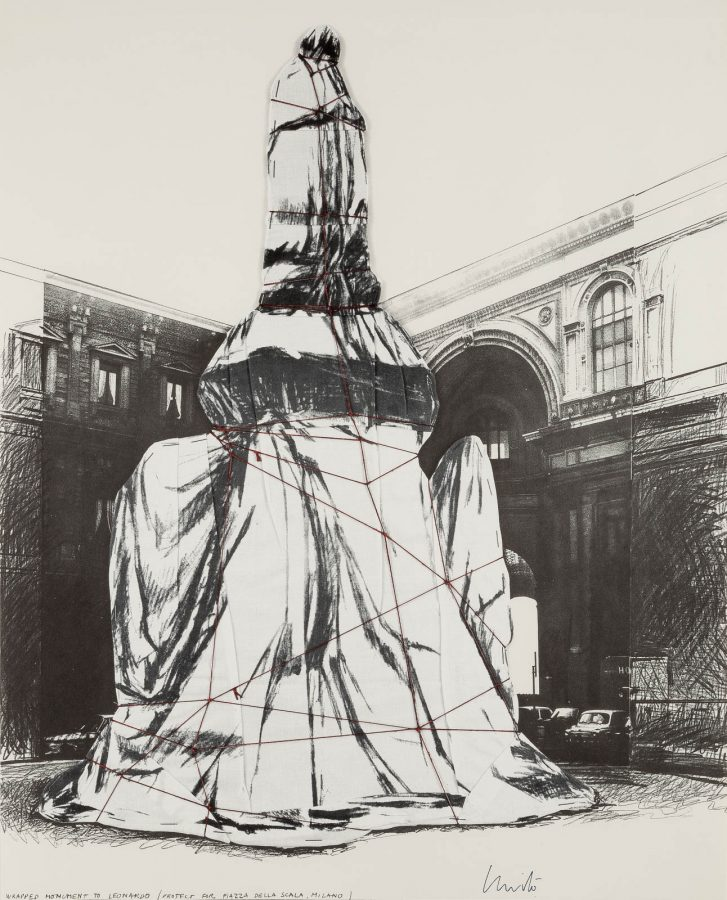 'WRAPPED MONUMENT TO LEONARDO, PROJECT FOR PIAZZA DELLA SCALA, MILANO'