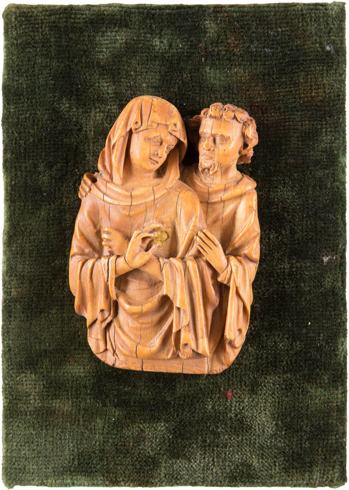 ELFENBEIN-RELIEF 'MARIA UND JOSEF'