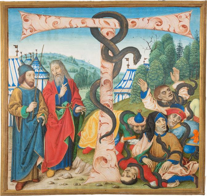 Missalefragment, Te-igitur-Initiale, Moses und die Eherne Schlange