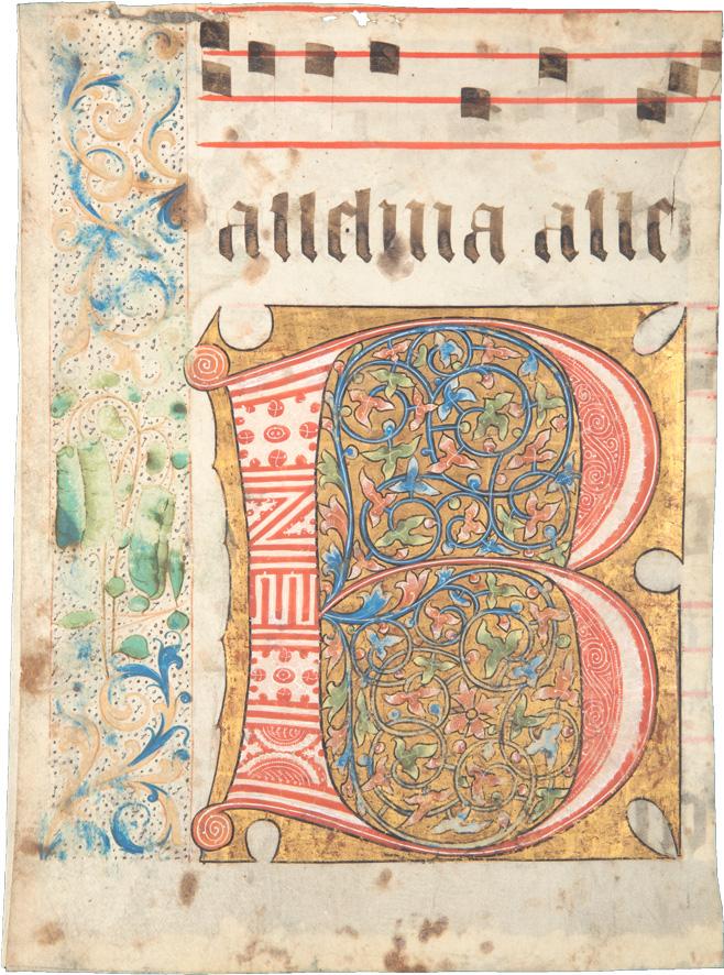 Initiale B – Fragment eines Chorbuches