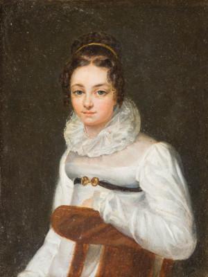DAMENPORTRAIT, WOHL MARIA THERESIA SMOLENITZ VON SMOLK (1808-1880)
