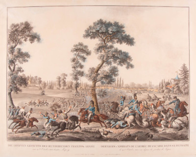 'DIE LETZTEN GEFECHTE DER RETIRIERENDEN FRANZ. ARMEE AM 19TEN OCTOBER 1813 HINTER LEIPZIG'