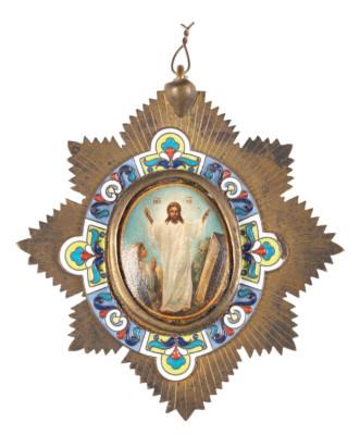 PLAKETTE MIT DER AUFERSTEHUNG CHRISTI