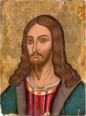 GROSSE IKONE MIT CHRISTUS PANTOKRATOR