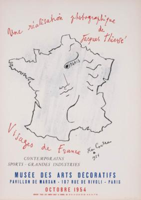 'VISAGES DE FRANCE' – AUSSTELLUNGSPLAKAT VOM MUSÉE DES ARTS DÉCORATIFS