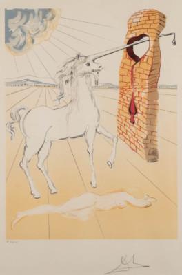'THE AGONY OF LOVE (UNICORN, AUS: 'DALÍ-RETROSPECTIVE, 1978/79)