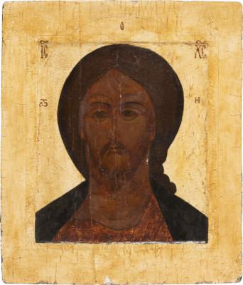 IKONE MIT CHRISTUS 'GRIMMES AUGE'